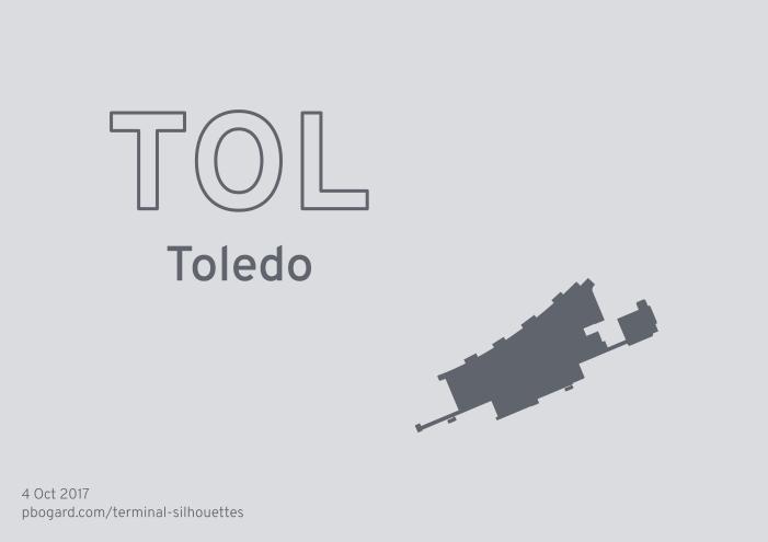 Terminal silhouette of TOL (Toledo)
