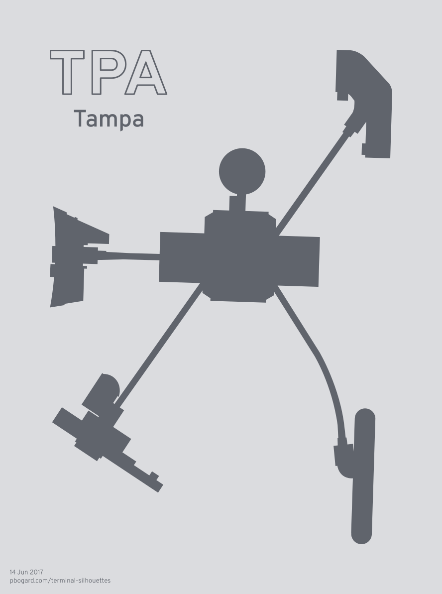 Terminal silhouette of TPA (Tampa)