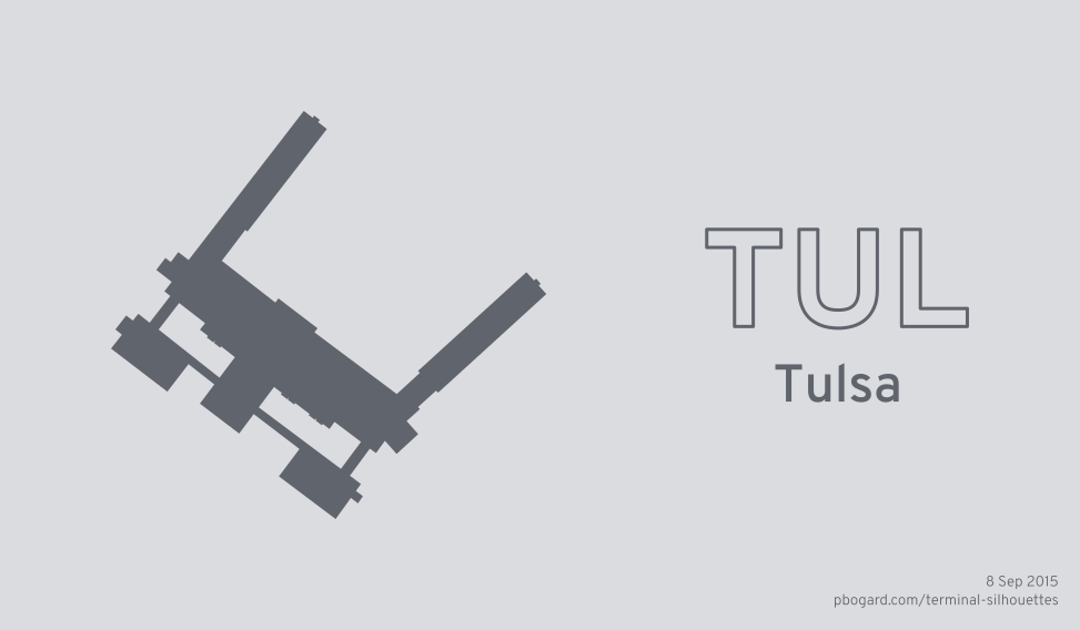 Terminal silhouette of TUL (Tulsa)
