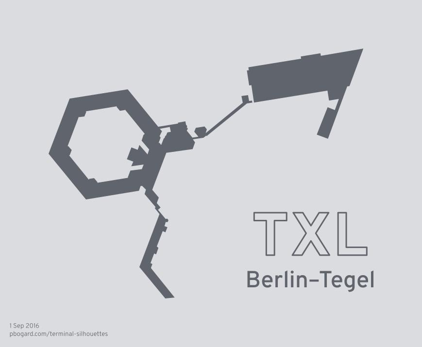 Terminal silhouette of TXL (Berlin–Tegel)