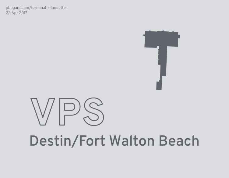 Terminal silhouette of VPS (Destin/Fort Walton Beach)