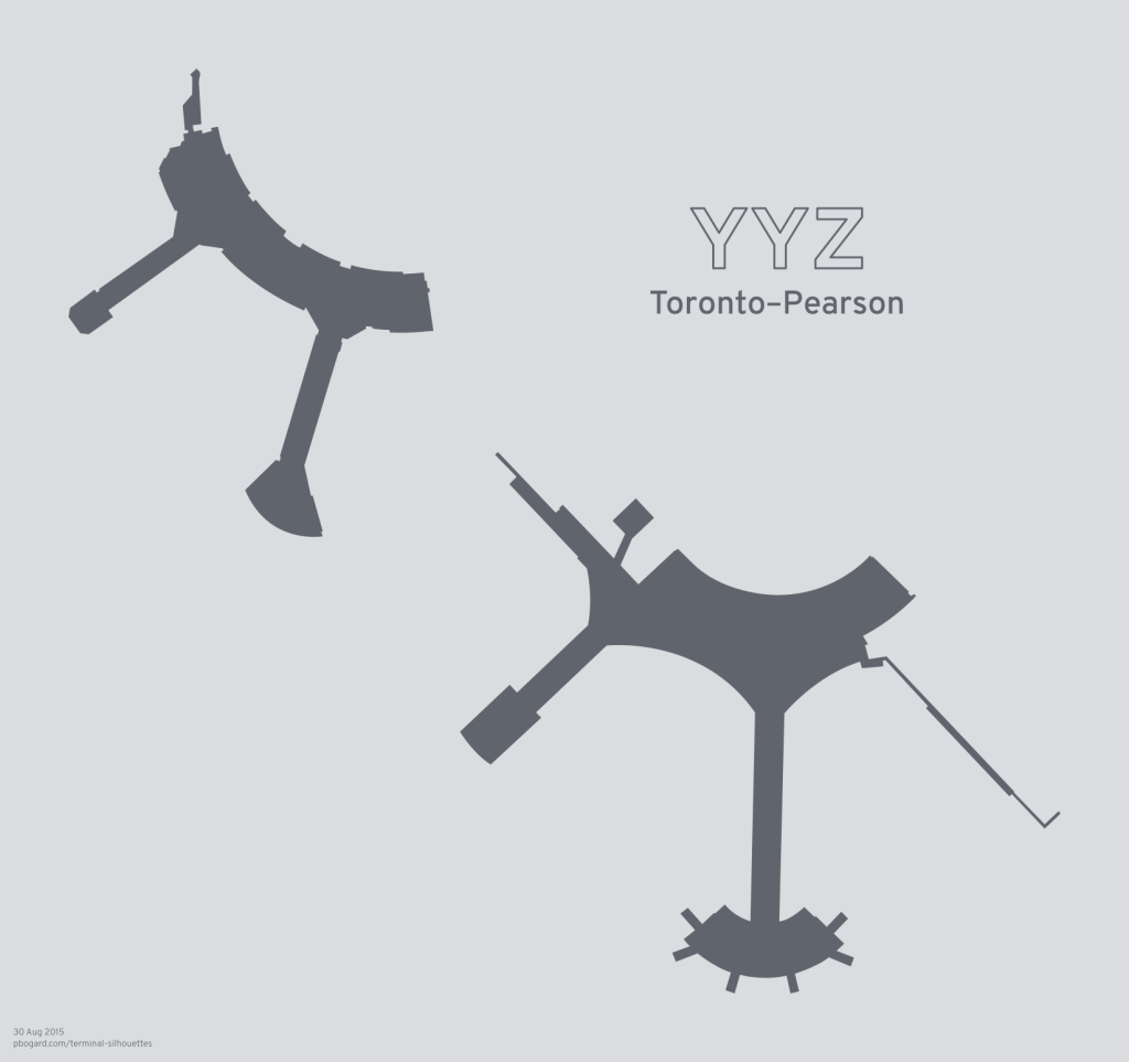 Terminal silhouette of YYZ (Toronto–Pearson)