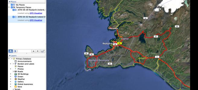 Screenshot of Google Earth Pro