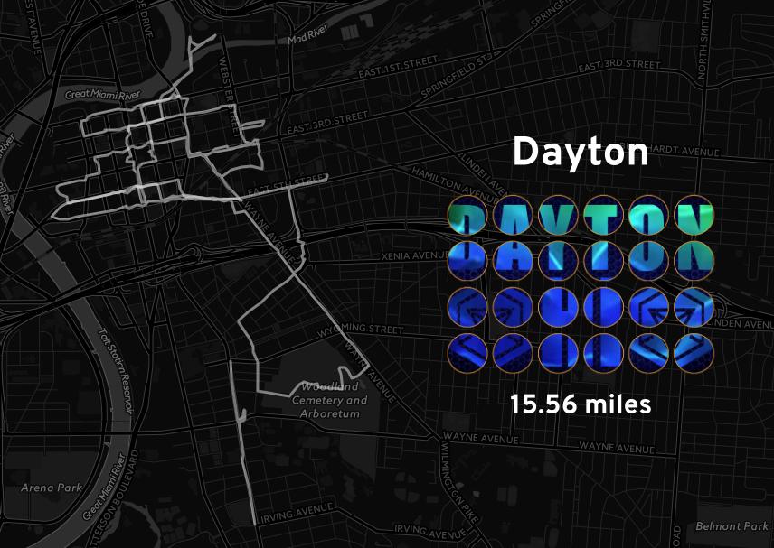 """Ingress mosaic map of the """"Dayton"""" mission."""