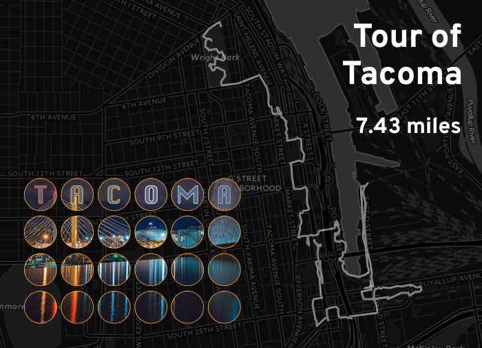 """Ingress mosaic map of the """"Tour of Tacoma"""" mission."""